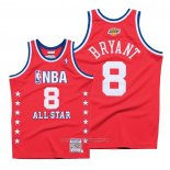 Camiseta All Star 2003 Kobe Bryant NO 8 Autentico Hardwood Classics Rojo