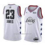 Camiseta All Star 2019 Los Angeles Lakers Lebron James #23 Blanco