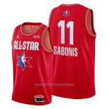 Camiseta All Star 2020 Indiana Pacers Domantas Sabonis NO 11 Rojo