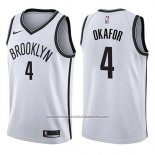 Camiseta Brooklyn Nets Jahlil Okafor #4 Association 2017-18 Blanco