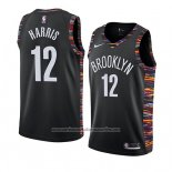 Camiseta Brooklyn Nets Joe Harris #12 Ciudad 2019 Negro