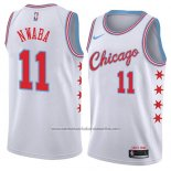 Camiseta Chicago Bulls David Nwaba #11 Ciudad 2018 Blanco