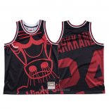 Camiseta Chicago Bulls Lauri Markkanen NO 24 Mitchell & Ness Big Face Negro