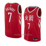 Camiseta Houston Rockets Carmelo Anthony #7 Ciudad 2018 Rojo