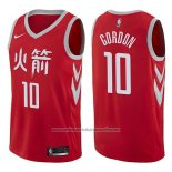 Camiseta Houston Rockets Eric Gordon #10 Ciudad 2017-18 Rojo