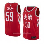 Camiseta Houston Rockets Gary Clark #59 Ciudad 2018 Rojo
