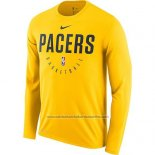 Camiseta Manga Larga Indiana Pacers Amarillo Practice Legend Performance