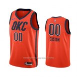 Camiseta Oklahoma City Thunder Earned 2018-19 Naranja Personalizada