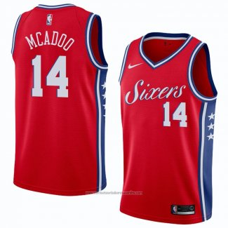 Camiseta Philadelphia 76ers James Michael Mcadoo #14 Statement 2018 Rojo