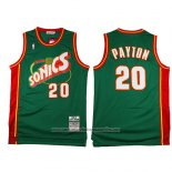 Camiseta Seattle SuperSonics Gary Payton #20 Historic Retro Verde2
