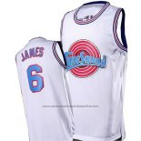 Camiseta Tune Squad Lebron James #6 Blanco