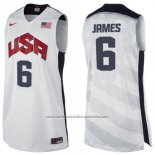 Camiseta USA 2012 Lebron James #6 Blanco