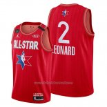 Camiseta All Star 2020 Los Angeles Clippers Kawhi Leonard NO 2 Rojo