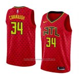 Camiseta Atlanta Hawks Tyler Cavanaugh #34 Statement 2018 Rojo