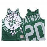 Camiseta Boston Celtics Gordon Hayward NO 20 Mitchell & Ness Big Face Verde
