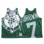 Camiseta Boston Celtics Jaylen Marron NO 7 Mitchell & Ness Big Face Verde