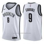 Camiseta Brooklyn Nets Demarre Carroll #9 Association 2017-18 Blanco
