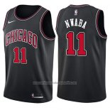 Camiseta Chicago Bulls David Nwaba #11 Statement 2017-18 Negro