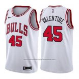 Camiseta Chicago Bulls Denzel Valentine #45 Association 2017-18 Blanco