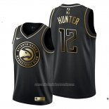 Camiseta Golden Edition Atlanta Hawks De'andre Hunter NO 12 Negro