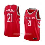 Camiseta Houston Rockets Chinanu Onuaku #21 Icon 2018 Rojo