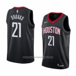 Camiseta Houston Rockets Chinanu Onuaku #21 Statement 2018 Negro