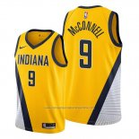 Camiseta Indiana Pacers T.j. Mcconnell NO 9 Statement Edition Amarillo