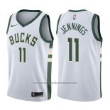 Camiseta Milwaukee Bucks Brandon Jennings #11 Association 2017-18 Blanco