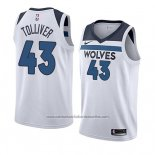 Camiseta Minnesota Timberwolves Anthony Tolliver #43 Association 2018 Blanco