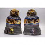 Gorro Beanie Golden State Warriors Amarillo Gris
