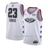 Camiseta All Star 2019 New Orleans Pelicans Anthony Davis #23 Blanco