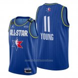 Camiseta All Star 2020 Atlanta Hawks Trae Young NO 11 Azul