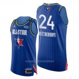 Camiseta All Star 2020 Bucks Giannis Antetokounmpo NO 24 Azul