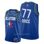 Camiseta All Star 2020 Dallas Mavericks Luka Doncic NO 77 Azul