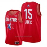 Camiseta All Star 2020 Denver Nuggets Nikola Jokic NO 15 Rojo
