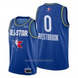 Camiseta All Star 2020 Houston Rockets Russell Westbrook NO 0 Azul