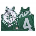 Camiseta Boston Celtics Carsen Edward NO 4 Mitchell & Ness Big Face Verde