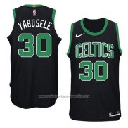 Camiseta Boston Celtics Guerschon Yabusele #30 Statement 2018 Negro