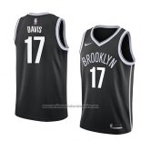 Camiseta Brooklyn Nets Ed Davis #17 Icon 2018 Negro