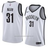 Camiseta Brooklyn Nets Jarrett Allen #31 Association 2018 Blanco