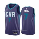 Camiseta Charlotte Hornets Dwayne Bacon NO 7 Statement Violeta