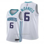 Camiseta Charlotte Hornets Jalen Mcdaniels NO 6 Association Blanco