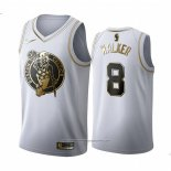 Camiseta Golden Edition Boston Celtics Kemba Walker NO 8 Blanco