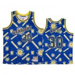 Camiseta Golden State Warriors Stephen Curry NO 30 Hardwood Classics Tear Up Pack Azul