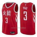 Camiseta Houston Rockets Chris Paul #3 Ciudad 2017-18 Rojo