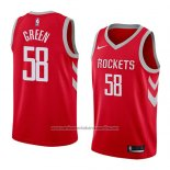 Camiseta Houston Rockets Gerald Green #58 Icon 2018 Rojo