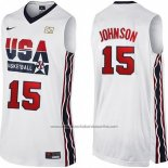 Camiseta USA 1992 Magic Johnson #15 Blanco