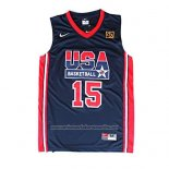 Camiseta USA 1992 Magic Johnson #15 Negro