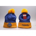 Gorro Beanie Golden State Warriors Amarillo Azul2