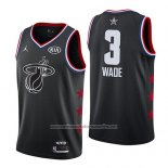 Camiseta All Star 2019 Miami Heat Dwyane Wade #3 Negro